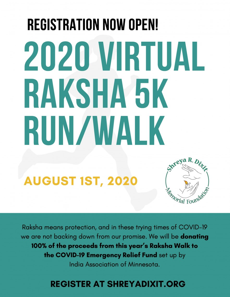 2020 virtual Raksha 5k run_walk